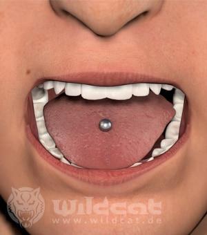 Zungenpiercing - 3D Darstellung
